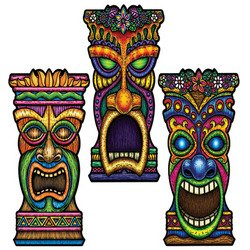 Tiki Bar Halloween Party (Tiki Cutouts Party Accessory (1)