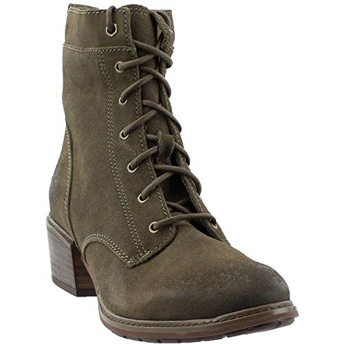 (Timberland Women's Sutherlin Bay Mid Lace Boot Olive Suede 10 B US)