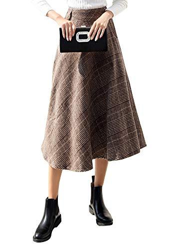 Jupe Femme Khaki Sobrisah Sobrisah Plaid Jupe 86wq07PEnx