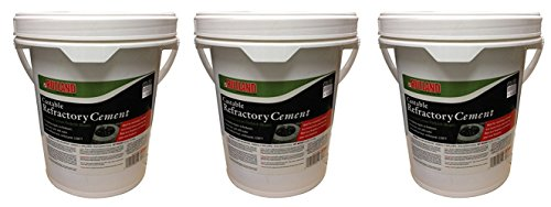 Rutland Castable Refractory Cement, 25-Pound (75 POUNDS) by Rutland Products