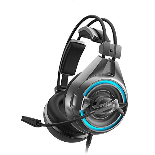 ZDZHU Stereo Gaming Headset for PS4/PC/Xbox One Controller, Noise Cancelling Over Ear Headphones with Mic, Bass Surround, Soft Memory Earmuffs