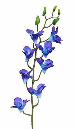 Faux Dendrobium Orchid Spray in Blue and Purple32