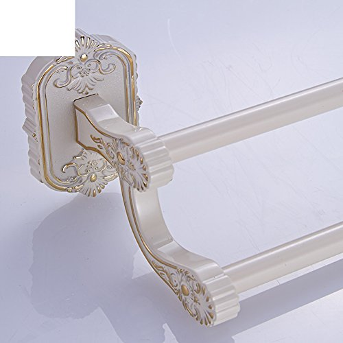 30%OFF European-style golden and white towel rail/Paint single bar Towel rack/Towel Bar/Towel shelf/bathroom hardware accessories/Towel hanger