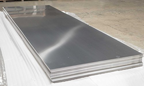 1 PC 304 Stainless Steel Sheets, 24Ga. 48''x 96''(4'x8' feet), #4 Finish (Brush Finish) by Size Metal