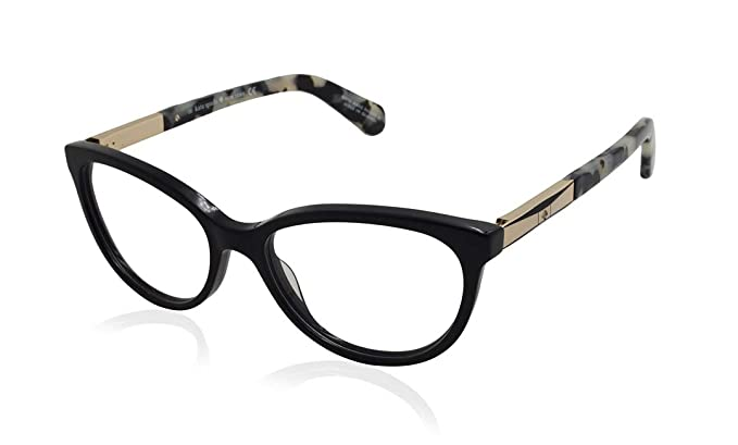 98bde3405fe1 Image Unavailable. Image not available for. Color: Kate Spade Kassia 0ANW  Black Gold Eyeglasses