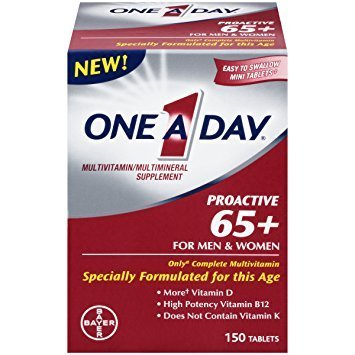 One A Day Proactive 65 Plus Multivitamins, 150 Count - Pack of 2