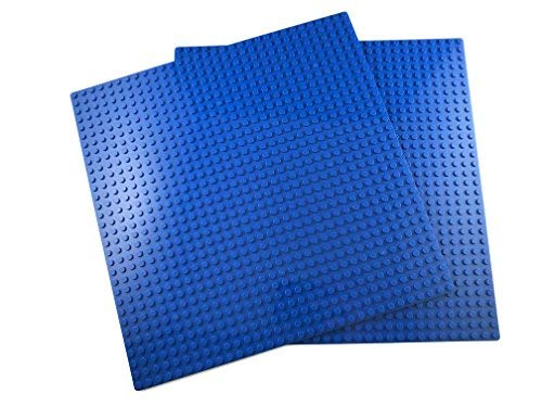 Apostrophe Games Classic Building Block Base Plates Compatible with All Major Brands (2X - Plate Building Lego Blue