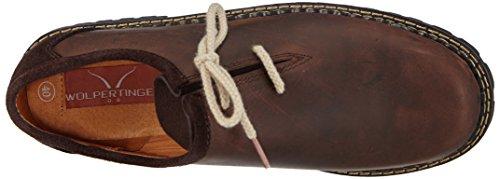 Crazy Brown 1 Zapatos Dark unisex tradicionales W07015 Marrón Wolpertinger bávaros TwqaB7