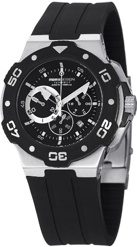 Momo Design Men's MD1004-02BKWT-R Tempest Analog Display Swiss Quartz Black Watch