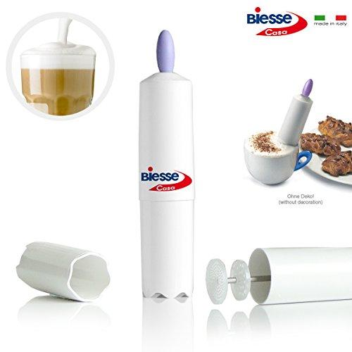 Cremafacile - Italienischer Milchaufschäumer, schnell und einfach (lila)