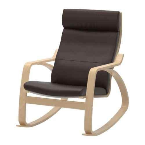Body Balance System Harmonic Massage Rocker (Brown Leather with Birch Finish Frame)