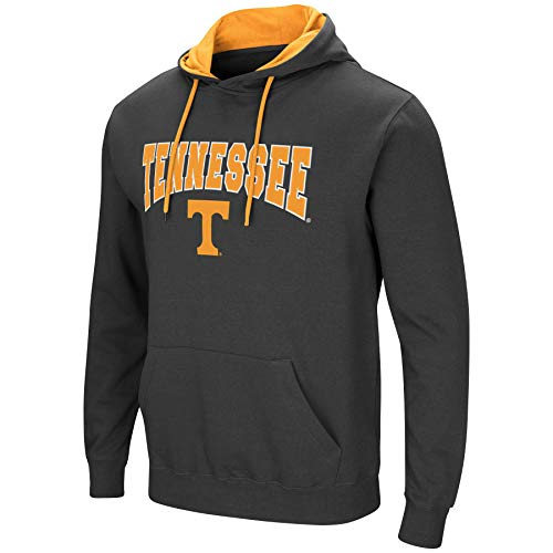 Colosseum Men's NCAA-Scoreboard-Dual Blend-Fleece Hoodie Pullover Sweatshirt-Charcoal-Tennessee Vols-XL
