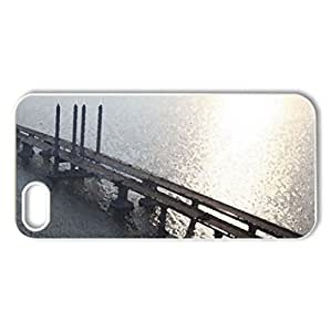 awesome long bridge - Case Cover for iPhone 5 and 5S (Bridges Series, Watercolor style, White)