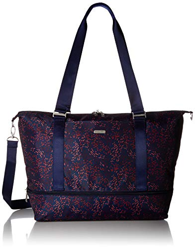 Baggallini Expandable Carry on Duffel, Firework Print , One Size (Large Tote Expandable)