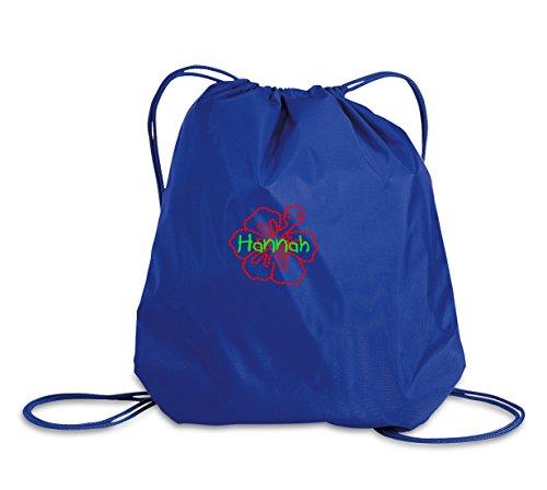 Hibiscus Drawstring Tote Bags - 9