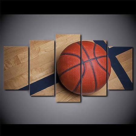 YUHONG 5 Paneles de Baloncesto decoración del hogar Moderno HD ...