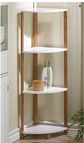 Bamboo Corner Unit with Four Shelves from Accent Plus