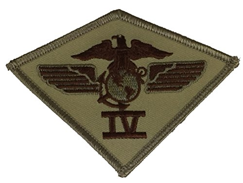 4TH MARINE AIRCRAFT WING UNIT PATCH - Desert/Tan - Veteran Owned Business ()