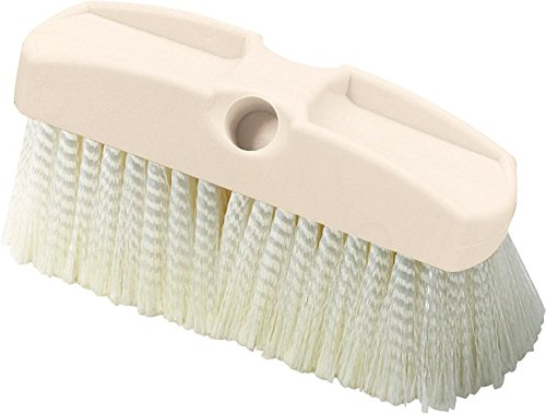 Carlisle 36122800 Plastic Acid Wash Brush with Tapered And Threaded Handle, Cream, 8'' (Pack of 12) by Carlisle
