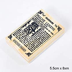 Best Quality - Stamps - New Vintage English Books Landscape Stamp DIY Wooden Rubber Stamps for Scrapbooking Stationery Scrapbooking Standard Stamp - by BLUESKYUP - 1 PCs