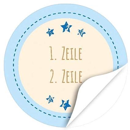24 Runde Design Etiketten Mit Ihrem Text Personalisiert