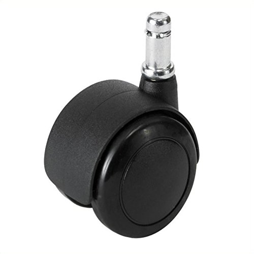 Safco Products 5132 Task Master 2'' Hard Floor Casters for Task Master, Soft Tough, WorkFit Chairs, sold separately, Black