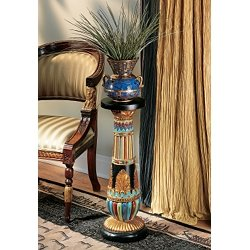 Egyptian Decoration decor Luxor End table Sculptural Stand Pedestal