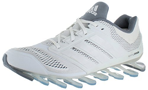 Cheap Adidas Mens Springblade Drive Running Shoes – Running White/Black/White (7.5)