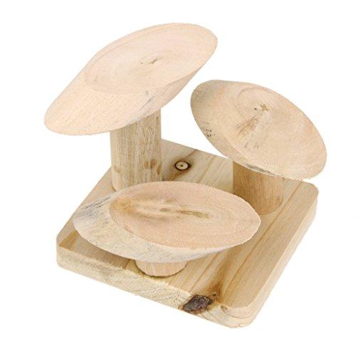Natur holzpilz Treppen Leiter Stand Spiele Plattform Spielzeug Für Ratte Hamster