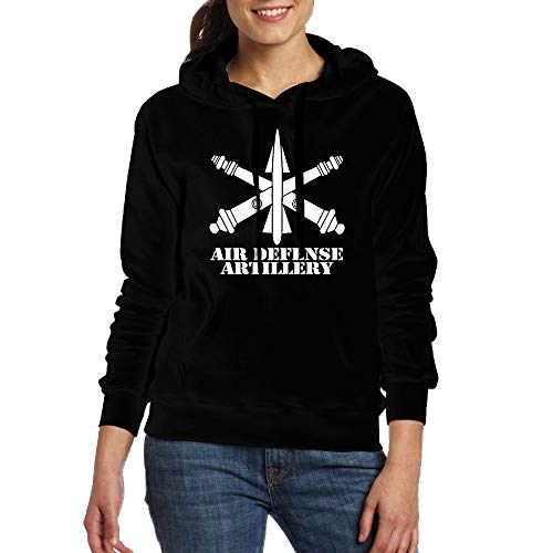BETARIE Army Air Defense Artillery Branch Insignia Crossed Cannons Women's Hoodies Pullover Hooded Sweatshirts with Pockets