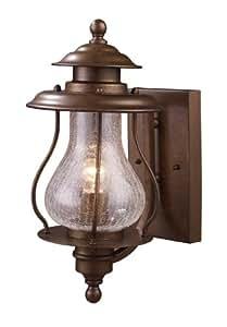 Landmark 62005-1 Wikshire 1-Light Outdoor Sconce, 15-Inch, Coffee Bronze