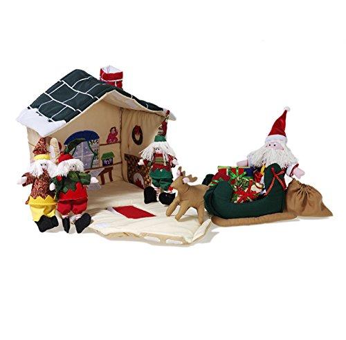 Oskar & Ellen 11 piece Fair Trade Hand Sewn Santa's Works...