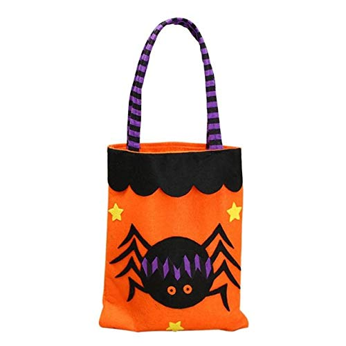 Star-Five-Store - Creative Halloween Decoration Non-woven Fabric Printed Handbags Biscuits Apple Gift Bags Candy Pouch Shopping Malls Supplies