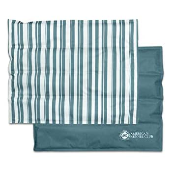 American Kennel Club AKC Large Cooling Mat Pet Bed,Stripe, Green