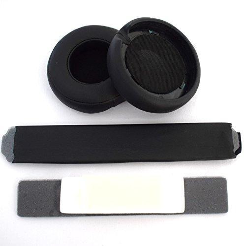 Black Headphones Replacement Headband Ear Pad Earpads Cushion Set For Beats by Dr. Dre Pro Detox Headphones