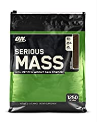 Serious Mass is the ultimate in weight gain formulas. With 1,250 calories per serving and 50 grams of protein for muscle recovery support, this instantized powder makes the ideal post-workout and between meals shake for sizing up your goals. ...