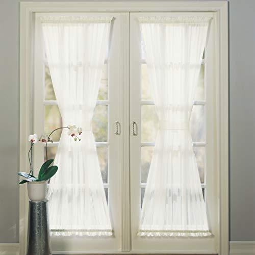 No. 918 Emily Sheer Voile Single Curtain Door Panel, 59