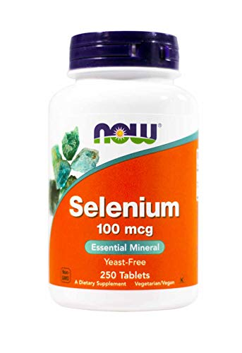 (Selenium, 100mcg, 250 Tabs by Now Foods (Pack of 2))