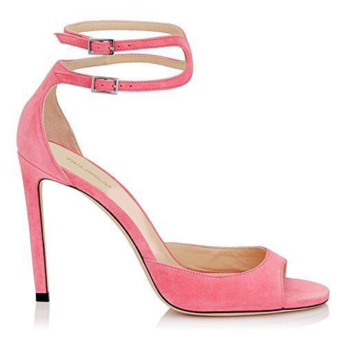 Shoes da Sandali Estivo Spillo Spillo Donna Tacco Toe a Peep Colore Prom Alto Dimensione Donna Party Tacco 36 C a Alto Tacco HUAN Tacco 87EfHwq8