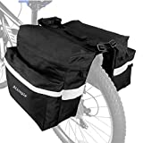 Ationgle Bike Bag Bicycle Trunk Bag Waterproof Bike Saddle Bags for Rear Rack 10-25L Extensible Pannier