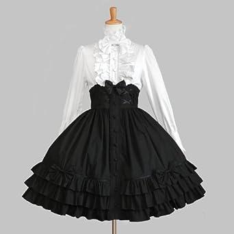 2f624b395 ゴスロリィタ Lolita ロリータ 衣装 洋服 COSMAMA LLT82613 ブラックとホワイト 長袖 ゴシック ゴスロリ プリンセス お嬢様  レディース