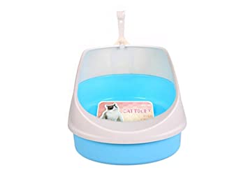Semicerrado Inodoro para Gato Arenero para Gatos Arenero Gatos De Diferentes Colores Bandeja Higienica Gatos PráCtico WC para Gatos MS-011, Blue: Amazon.es: ...