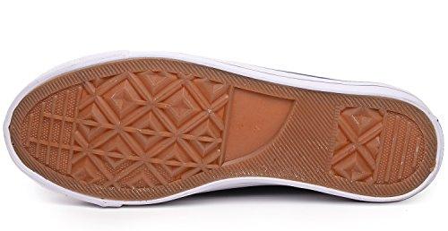 Odema Mujeres Hombre Lace Up Zapatos De Lona Zapatillas De Moda Classic Casual Preppy Style Zapatos Planos Azul
