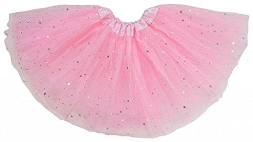 Losorn Kid Girls Dress Tutu Glitter Ballet Dress Triple Layer Soft Tulle, Pink, 2-6yrs kid girls