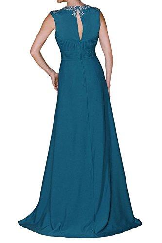 Braut Elegant Partykleider Formal Damen Festlichkleider La Blau Brautmutterkleider Chiffon Langes Kleider Dunkel mia Abendkleider RE5UwqZ5