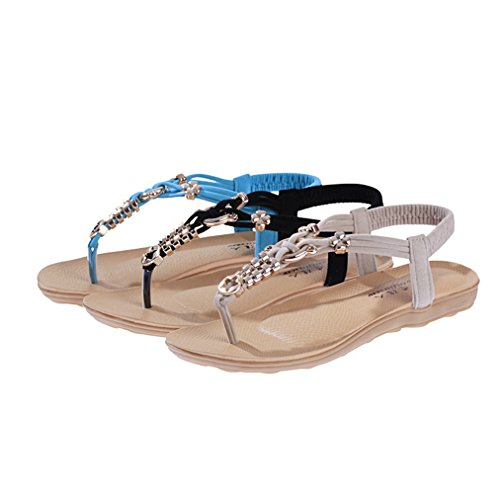 on Flops Fashion Ladies Espadrilles JULY T Bohemian Girls Beige Dressy Women Flip Comfy Walking Slip Flat Sandals t8PwwA
