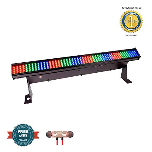 CHAUVET DJ COLORstrip Mini LED Linear Wash Light Includes Free Wireless Earbuds - Stereo Bluetooth in-Ear and 1 Year Everything Music Extended Warranty