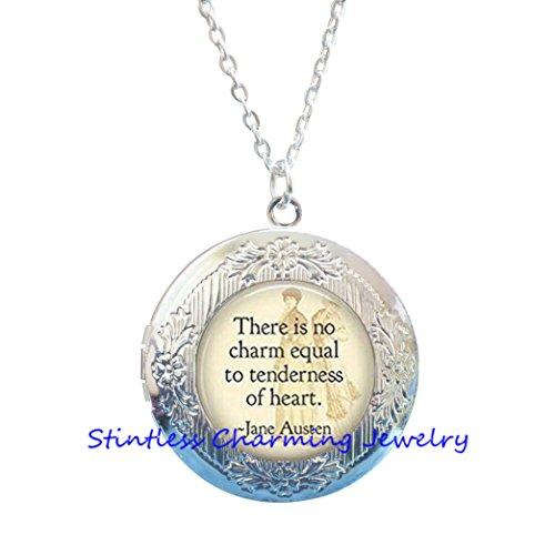 - There is no charm equal to tenderness of heart Locket Necklace,Book Locket Necklace,Quote Locket Necklace Book Jewelry,Quote Locket Necklace,Book Lover Gift,Bookworm Locket Necklace - Reading Quote