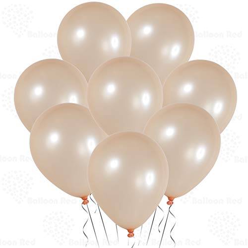 Metallic Champagne Gold 12 Inch Pearlescent Thickened Latex Balloons, Pack of 144, Pearlized Premium Helium Quality for Wedding Bridal Baby Shower Birthday Party Decorations Supplies Ballon Thinken ()