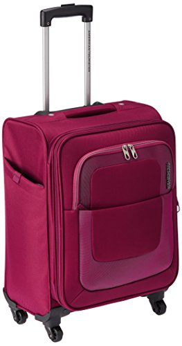American Tourister Sparta Polyester 55 cms Purple Suitcase (12W (0) 50 001)